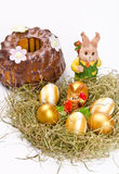 Easter  and chocolate cake Stock Photos