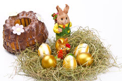 Easter  and chocolate cake Royalty Free Stock Photo