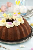 Easter chocolate cake Stock Images