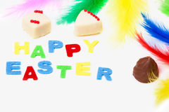 Easter chocolate, easter card Royalty Free Stock Photography
