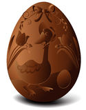 Easter chocolate egg. With goose - vector illustration Royalty Free Stock Photo