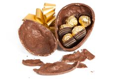 Easter Chocolate Egg Stock Images