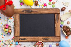 Easter chocolate egg stock photos