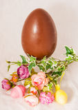 Easter chocolate egg. Royalty Free Stock Photography