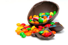 Easter chocolate egg and sweets Stock Photo