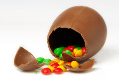 Easter chocolate egg and sweets Royalty Free Stock Photos
