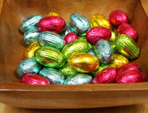 Easter chocolate eggs Stock Photography