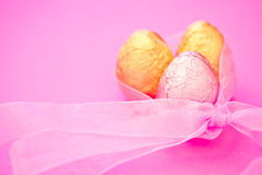 Easter chocolate eggs Royalty Free Stock Photo