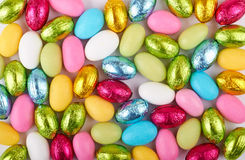 Easter Chocolate Eggs Background Stock Photo