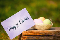 Easter chocolate eggs Royalty Free Stock Images