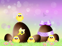 Easter chocolate eggs Royalty Free Stock Photography
