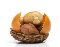Easter Chocolates Nest Stock Images