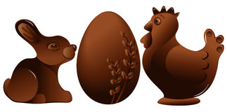 Easter chocolate figures Stock Photography