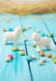 Easter chocolate lamb Stock Photography