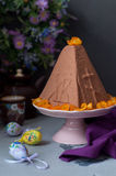 Easter Chocolate Quark Dessert, Paskha Stock Photography