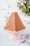 Easter Chocolate Quark Dessert, Paskha Stock Images
