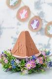 Easter Chocolate Quark Dessert, Paskha Royalty Free Stock Photo
