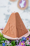 Easter Chocolate Quark Dessert, Paskha Royalty Free Stock Image