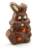 Easter chocolate rabbit Stock Photos