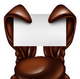 Easter Chocolate Rabbit Sign Royalty Free Stock Photography