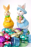 Easter Chocolates. Easter bunnies and chocolates Royalty Free Stock Images