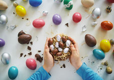 Easter chocolates Stock Image