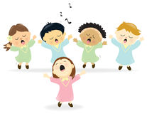 Easter Choir singing. Illustration of isolated Easter choir singing praise Stock Photography