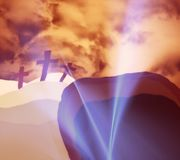Easter: Christ Risen From The Grave Royalty Free Stock Photography