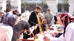 Easter at church, Belarus, Minsk. May 2014. Stock Photography