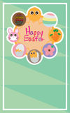 Easter circle food frame Stock Images