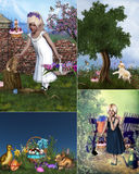 Easter Collage. A collage of Easter images Royalty Free Stock Images