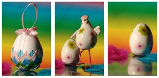 Easter collage with egg Stock Images