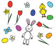 Easter collection. Collection of drawings related to Easter stock illustration