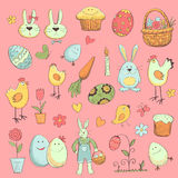 Easter Collection of elements for your design Stock Image