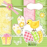 Easter collection for scrapbook. Royalty Free Stock Image