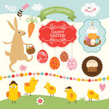 Easter collection. Set of design elements Stock Images