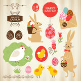 Easter collection. Set of design elements Royalty Free Stock Image