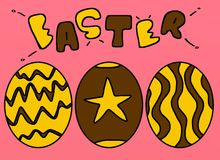 Easter. Color eastar eggs royalty free illustration