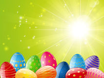 Easter color eggs Stock Photos