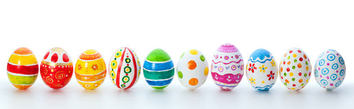 Easter color eggs. Over white background Stock Photo