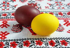 Easter color eggs Stock Photography
