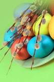 Easter color eggs Royalty Free Stock Image