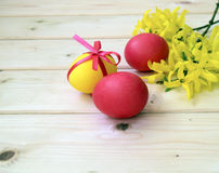 Easter color eggs are a holiday symbo Royalty Free Stock Image