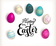Easter color eggs Royalty Free Stock Images