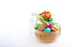 Easter colored eggs Royalty Free Stock Photos