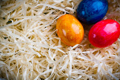 Easter colored eggs. Royalty Free Stock Photos