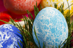 Easter colored eggs Stock Photo