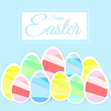 Easter colored eggs, happy easter Royalty Free Stock Photos