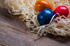 Easter colored eggs. Royalty Free Stock Images