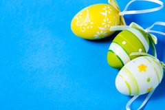 Easter colored eggs Stock Photos